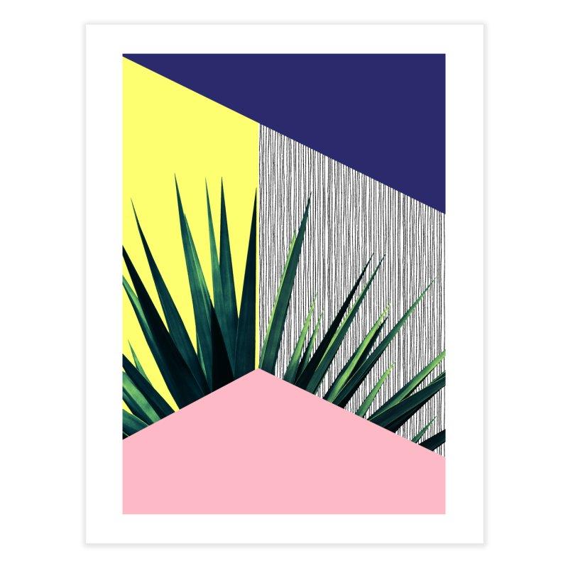 Geometric Leaves #1 Home Fine Art Print by cafelab
