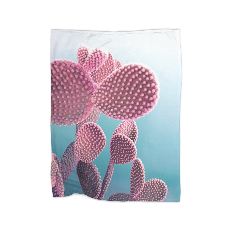 Candy Cactus Home Fleece Blanket Blanket by cafelab
