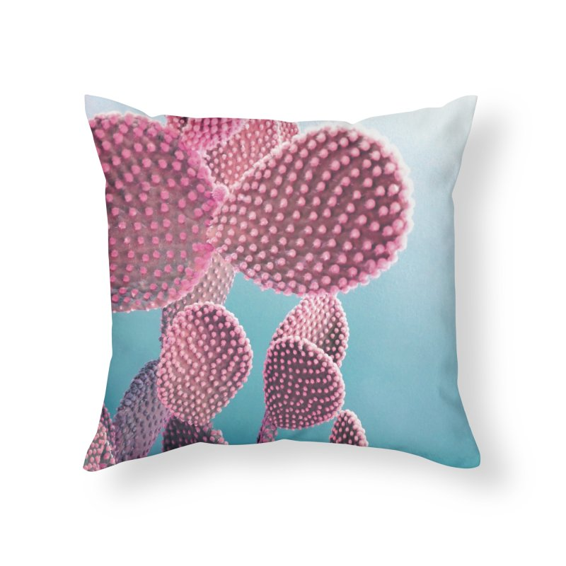 Candy Cactus Home Throw Pillow by cafelab