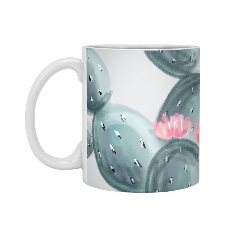 Painted Cactus Pattern Accessories Mug by cafelab's Artist Shop