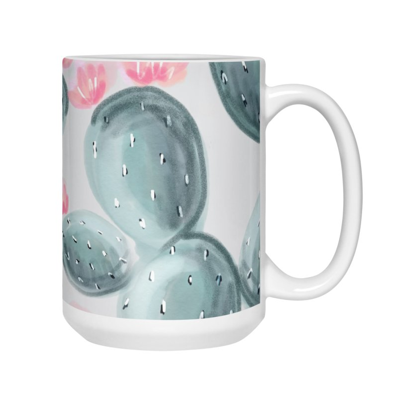 Painted Cactus Pattern Accessories Mug by cafelab