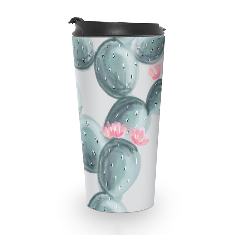 Painted Cactus Pattern Accessories Travel Mug by cafelab
