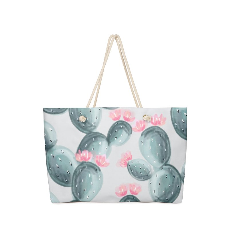 Painted Cactus Pattern Accessories Bag by cafelab