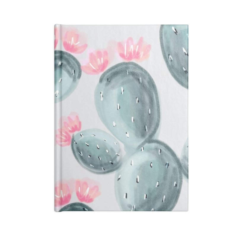 Painted Cactus Pattern Accessories Lined Journal Notebook by cafelab