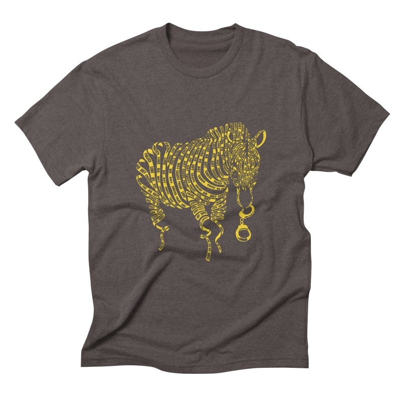 Nature Of Crime Men's Triblend T-shirt by caffeinart's Artist Shop