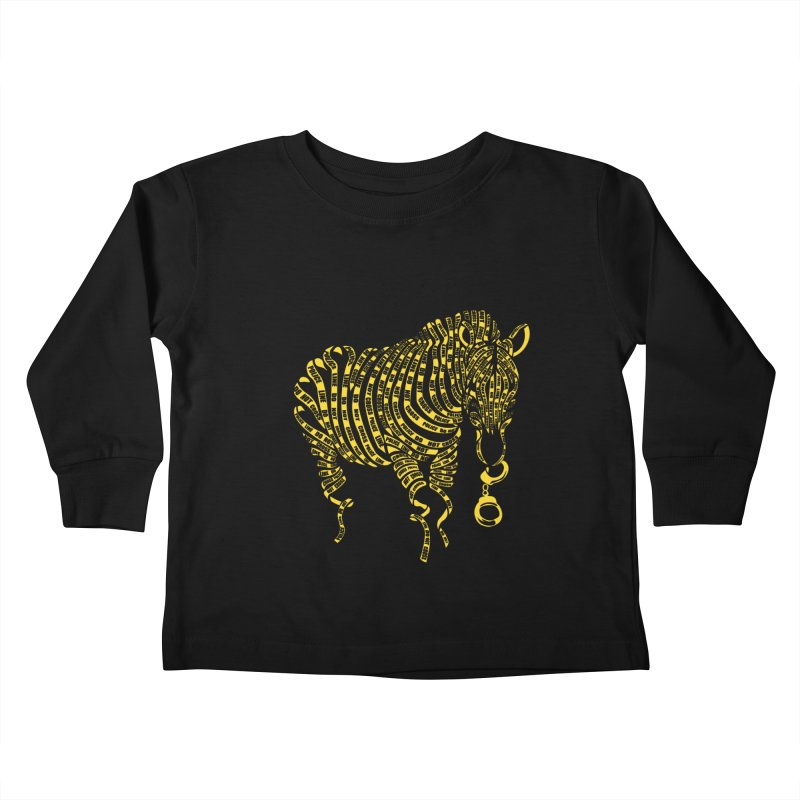 Nature Of Crime Kids Toddler Longsleeve T-Shirt by caffeinart's Artist Shop