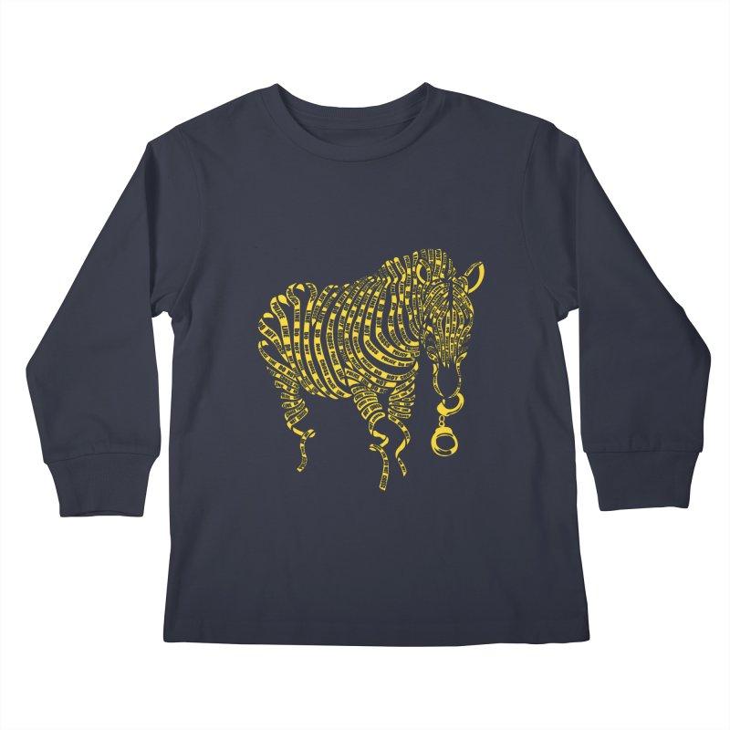 Nature Of Crime Kids Longsleeve T-Shirt by caffeinart's Artist Shop