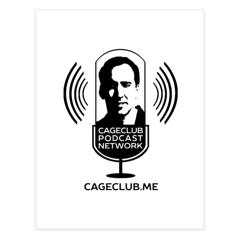 I ❤️ The CageClub Podcast Network (black logo) Home Fine Art Print by The CageClub Podcast Network Shop
