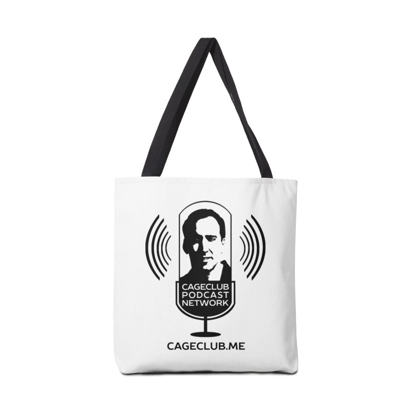 I ❤️ The CageClub Podcast Network (black logo) Accessories Tote Bag Bag by The CageClub Podcast Network Shop