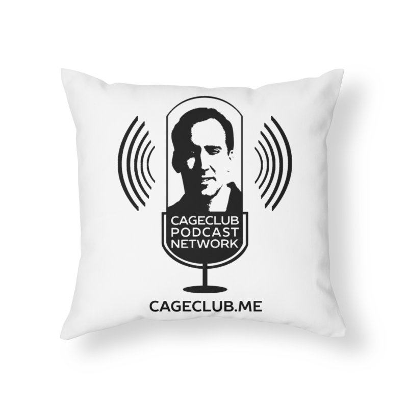 I ❤️ The CageClub Podcast Network (black logo) Home Throw Pillow by The CageClub Podcast Network Shop