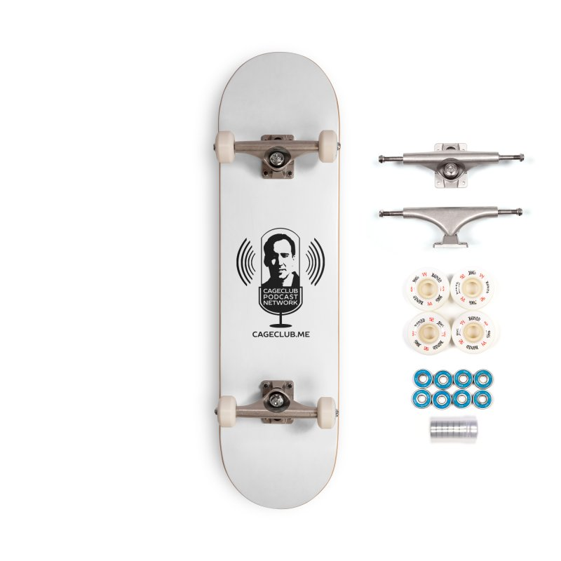 I ❤️ The CageClub Podcast Network (black logo) Accessories Complete - Premium Skateboard by The CageClub Podcast Network Shop