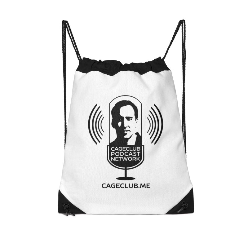 I ❤️ The CageClub Podcast Network (black logo) Accessories Drawstring Bag Bag by The CageClub Podcast Network Shop