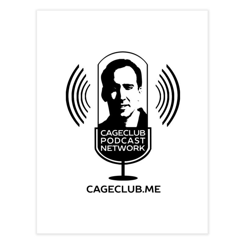 I ❤️ The CageClub Podcast Network (black logo) Home Fine Art Print by The CageClub Podcast Network Shop