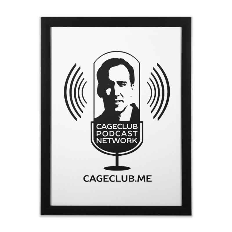 I ❤️ The CageClub Podcast Network (black logo) Home Framed Fine Art Print by The CageClub Podcast Network Shop