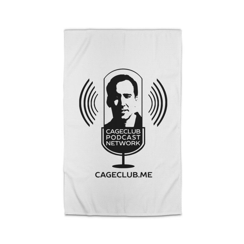 I ❤️ The CageClub Podcast Network (black logo) Home Rug by The CageClub Podcast Network Shop