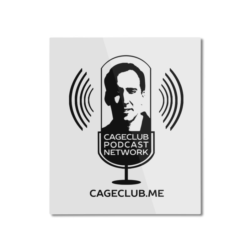 I ❤️ The CageClub Podcast Network (black logo) Home Mounted Aluminum Print by The CageClub Podcast Network Shop
