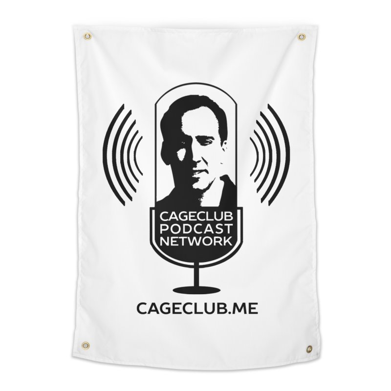 I ❤️ The CageClub Podcast Network (black logo) Home Tapestry by The CageClub Podcast Network Shop