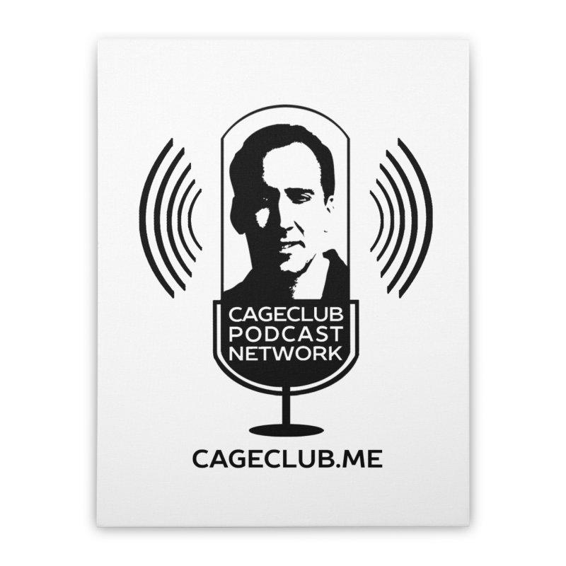 I ❤️ The CageClub Podcast Network (black logo) Home Stretched Canvas by The CageClub Podcast Network Shop