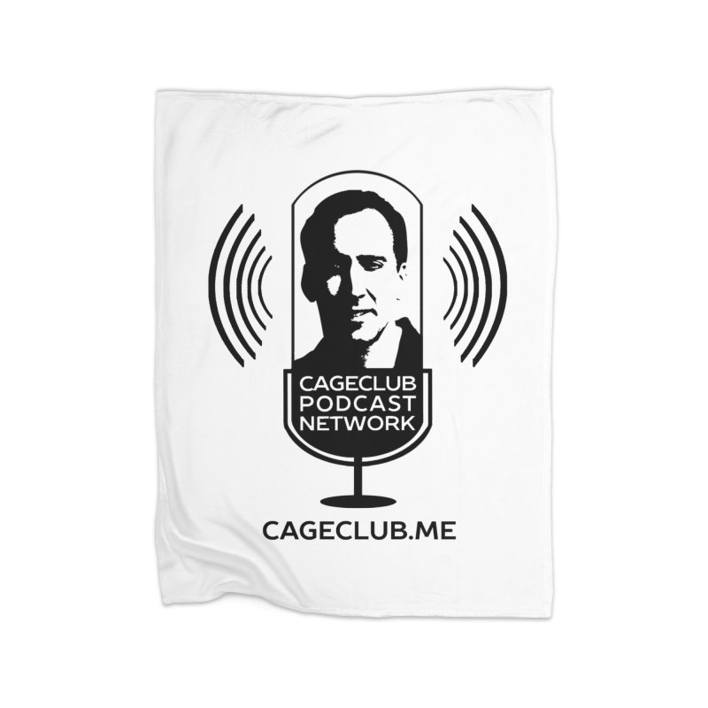 I ❤️ The CageClub Podcast Network (black logo) Home Fleece Blanket Blanket by The CageClub Podcast Network Shop
