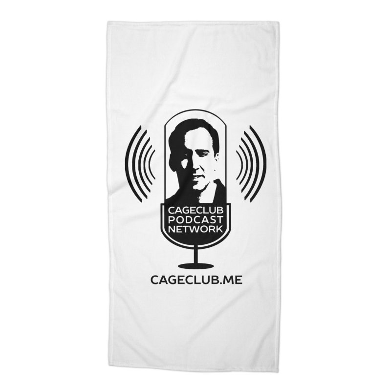 I ❤️ The CageClub Podcast Network (black logo) Accessories Beach Towel by The CageClub Podcast Network Shop