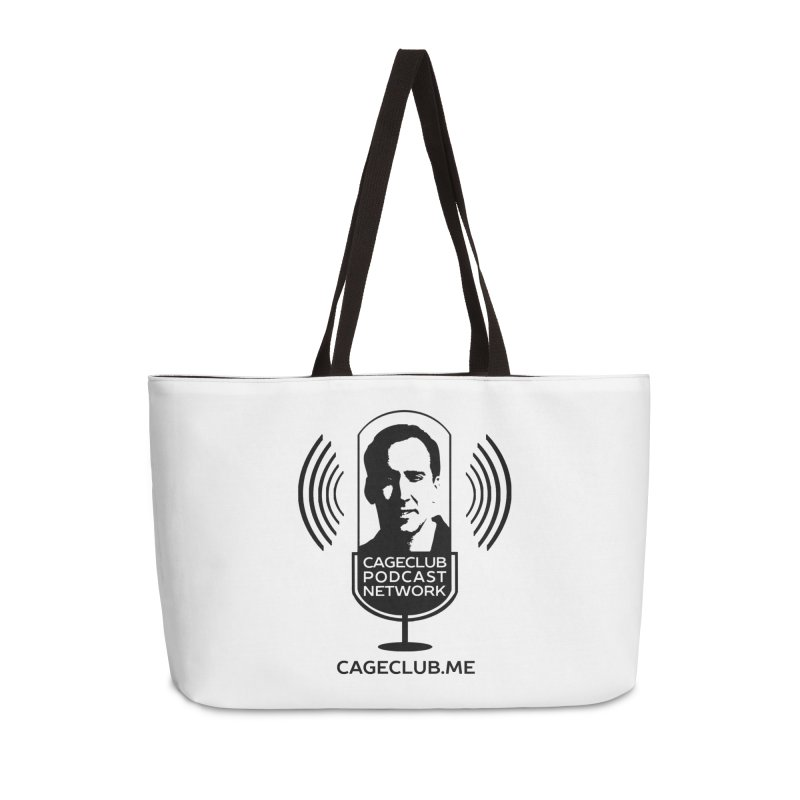 I ❤️ The CageClub Podcast Network (black logo) Accessories Weekender Bag Bag by The CageClub Podcast Network Shop
