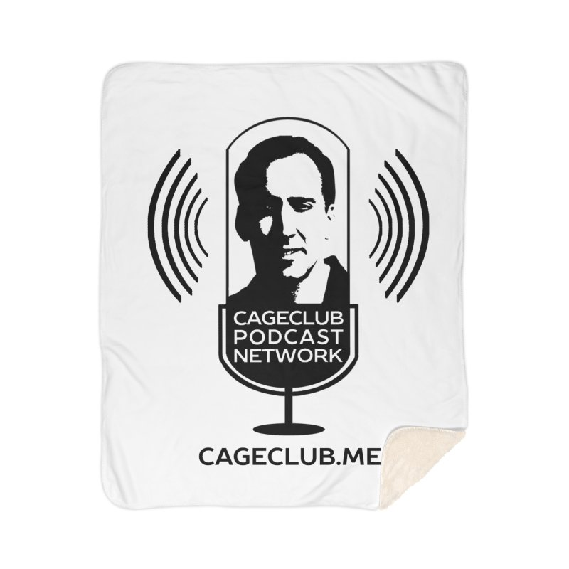 I ❤️ The CageClub Podcast Network (black logo) Home Sherpa Blanket Blanket by The CageClub Podcast Network Shop