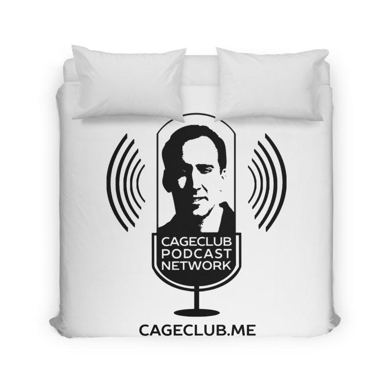 I ❤️ The CageClub Podcast Network (black logo) Home Duvet by The CageClub Podcast Network Shop