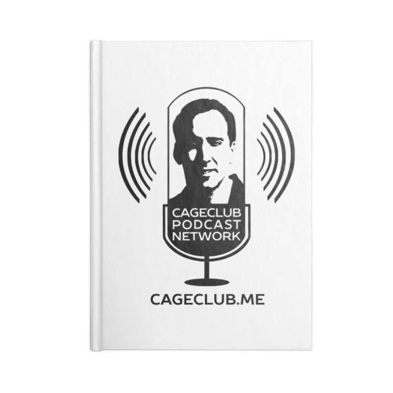 I ❤️ The CageClub Podcast Network (black logo) Accessories Lined Journal Notebook by The CageClub Podcast Network Shop