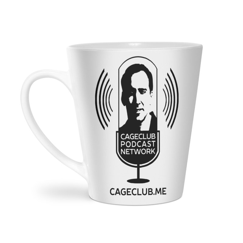 I ❤️ The CageClub Podcast Network (black logo) Accessories Latte Mug by The CageClub Podcast Network Shop