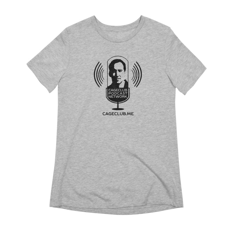 I ❤️ The CageClub Podcast Network (black logo) Women's Extra Soft T-Shirt by The CageClub Podcast Network Shop