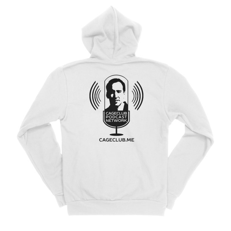 I ❤️ The CageClub Podcast Network (black logo) Men's Sponge Fleece Zip-Up Hoody by The CageClub Podcast Network Shop
