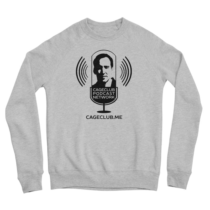 I ❤️ The CageClub Podcast Network (black logo) Men's Sponge Fleece Sweatshirt by The CageClub Podcast Network Shop