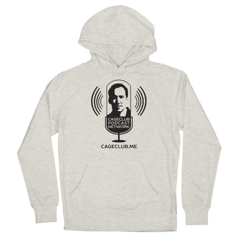 I ❤️ The CageClub Podcast Network (black logo) Men's French Terry Pullover Hoody by The CageClub Podcast Network Shop