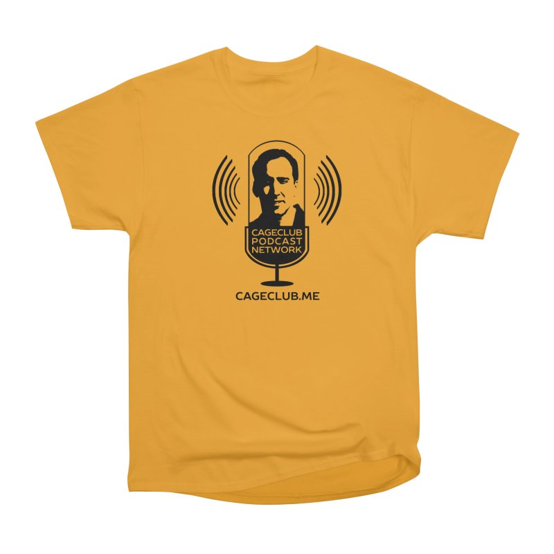 I ❤️ The CageClub Podcast Network (black logo) Men's Heavyweight T-Shirt by The CageClub Podcast Network Shop