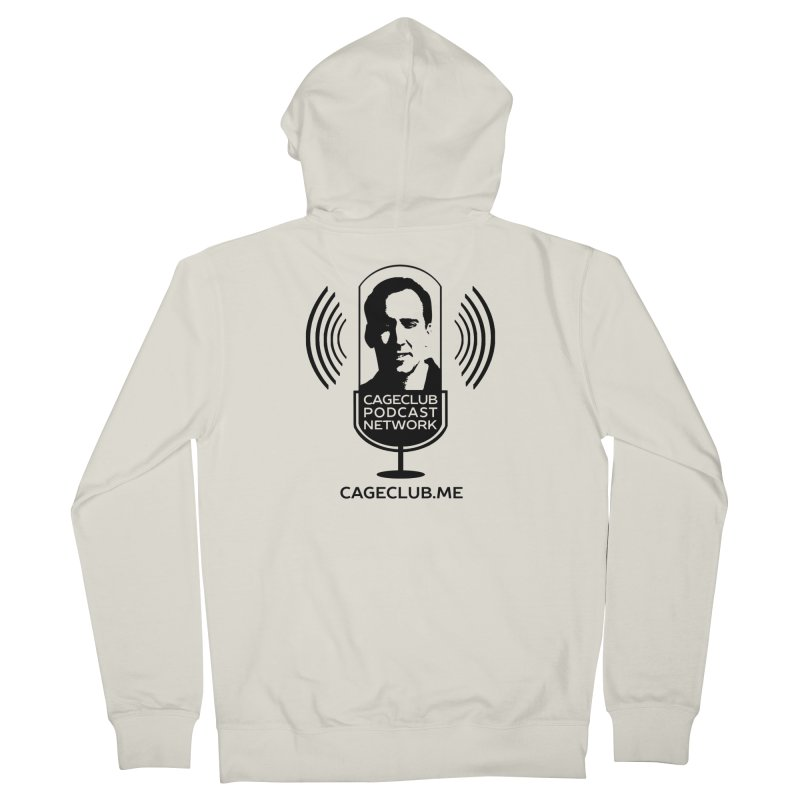 I ❤️ The CageClub Podcast Network (black logo) Men's French Terry Zip-Up Hoody by The CageClub Podcast Network Shop