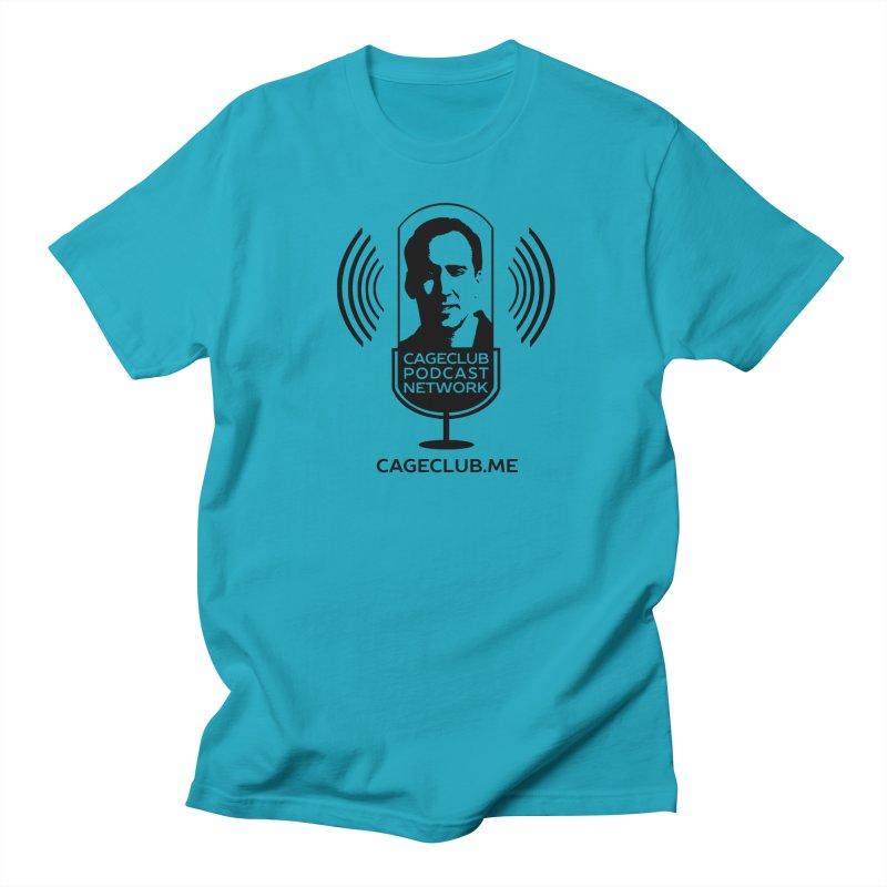 I ❤️ The CageClub Podcast Network (black logo) Men's Regular T-Shirt by The CageClub Podcast Network Shop
