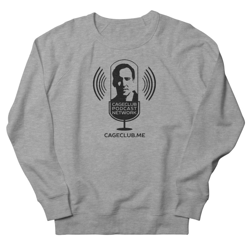 I ❤️ The CageClub Podcast Network (black logo) Women's French Terry Sweatshirt by The CageClub Podcast Network Shop