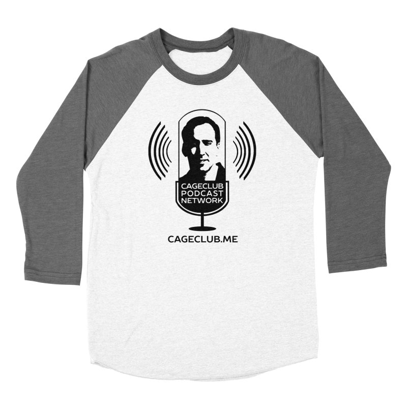 I ❤️ The CageClub Podcast Network (black logo) Women's Baseball Triblend Longsleeve T-Shirt by The CageClub Podcast Network Shop