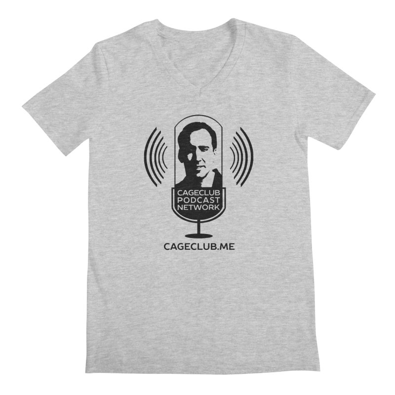 I ❤️ The CageClub Podcast Network (black logo) Men's Regular V-Neck by The CageClub Podcast Network Shop