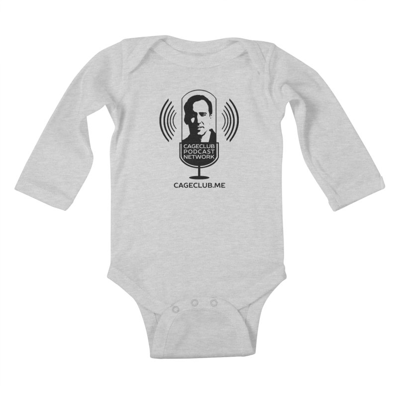 I ❤️ The CageClub Podcast Network (black logo) Kids Baby Longsleeve Bodysuit by The CageClub Podcast Network Shop