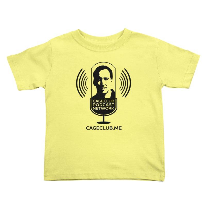 I ❤️ The CageClub Podcast Network (black logo) Kids Toddler T-Shirt by The CageClub Podcast Network Shop