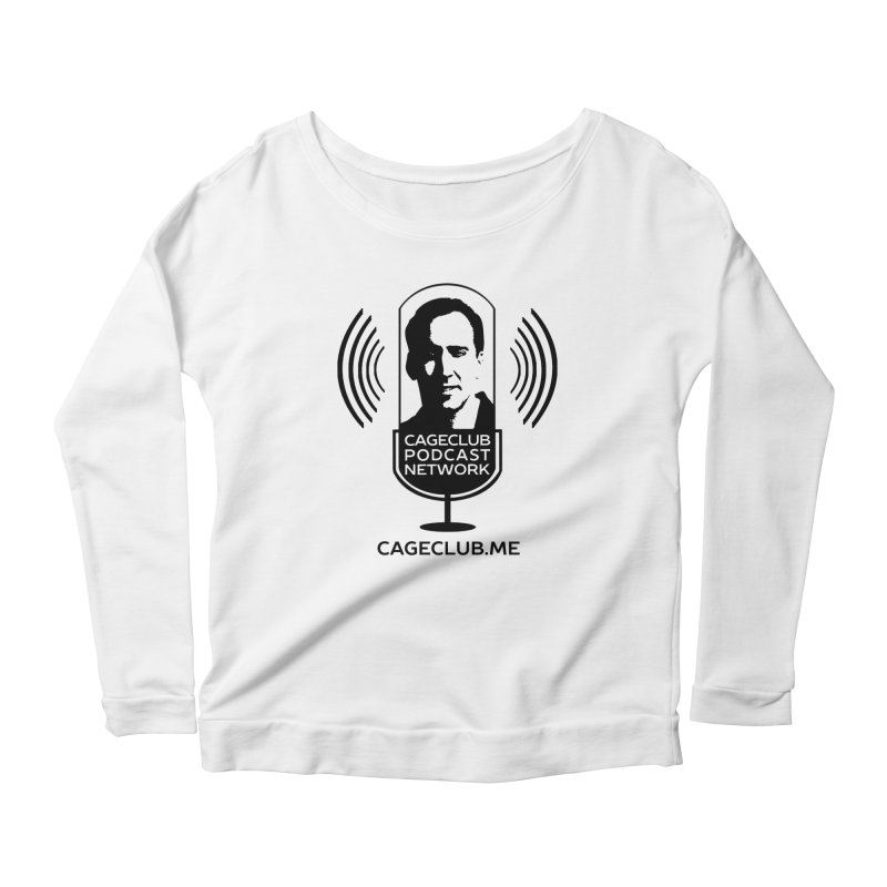 I ❤️ The CageClub Podcast Network (black logo) Women's Scoop Neck Longsleeve T-Shirt by The CageClub Podcast Network Shop