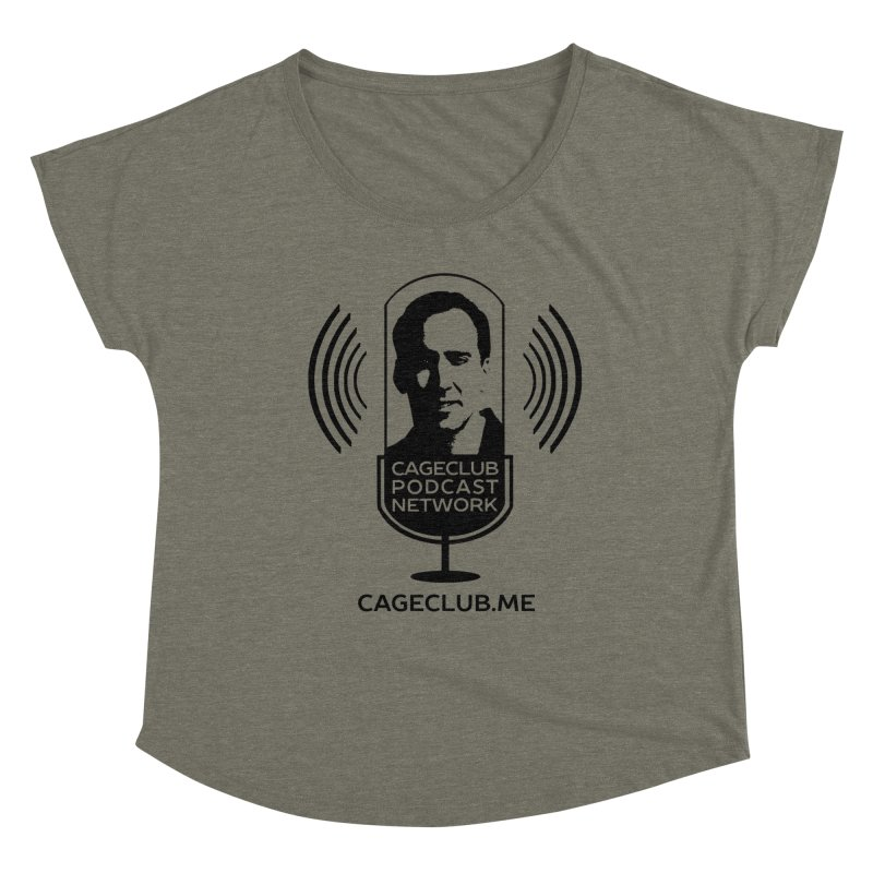 I ❤️ The CageClub Podcast Network (black logo) Women's Dolman Scoop Neck by The CageClub Podcast Network Shop