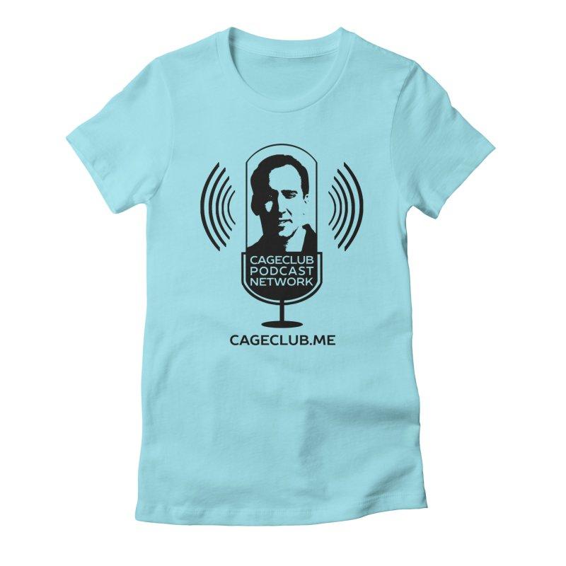 I ❤️ The CageClub Podcast Network (black logo) Women's Fitted T-Shirt by The CageClub Podcast Network Shop
