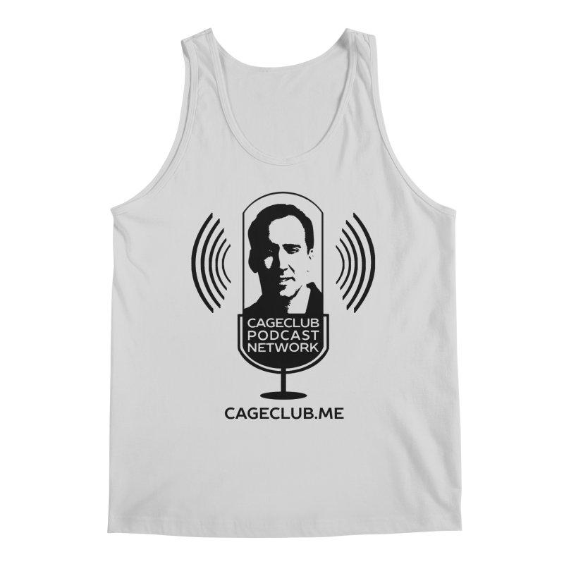 I ❤️ The CageClub Podcast Network (black logo) Men's Regular Tank by The CageClub Podcast Network Shop