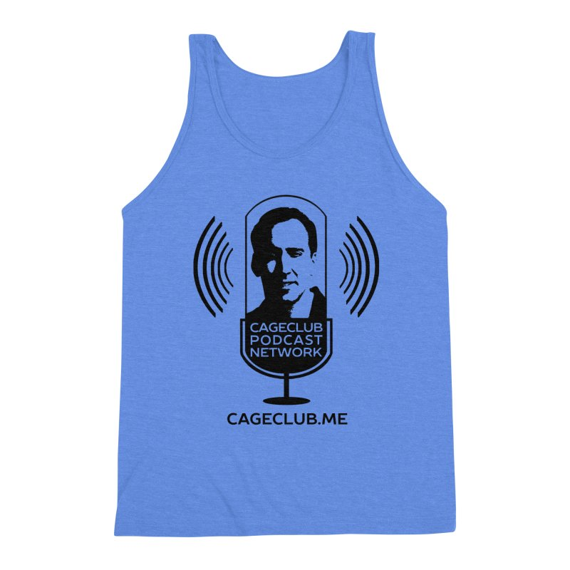 I ❤️ The CageClub Podcast Network (black logo) Men's Triblend Tank by The CageClub Podcast Network Shop