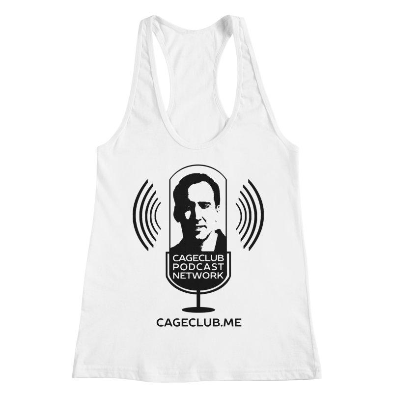 I ❤️ The CageClub Podcast Network (black logo) Women's Racerback Tank by The CageClub Podcast Network Shop