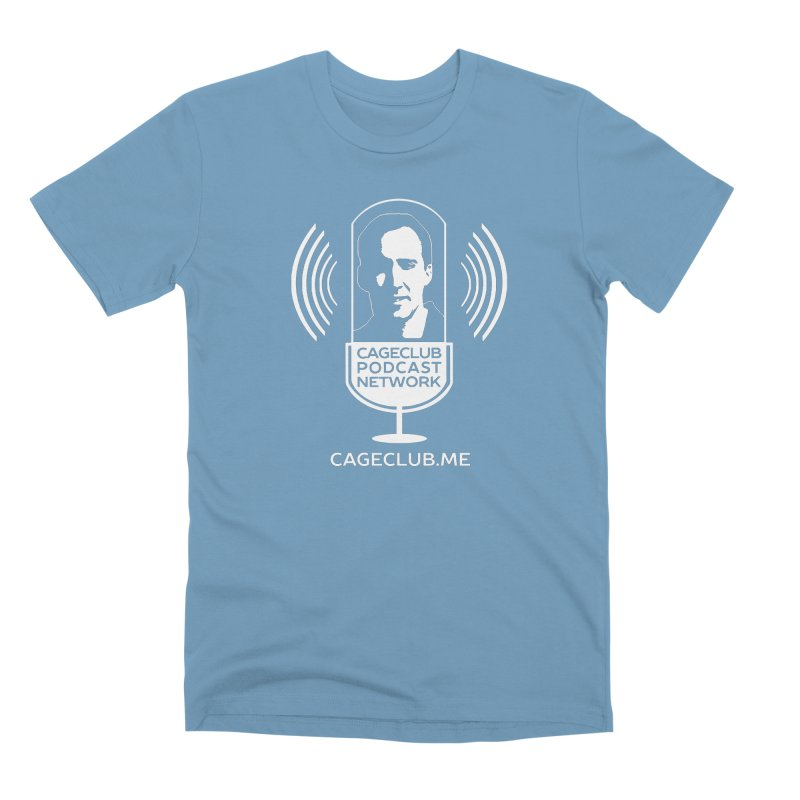 I ❤️ The CageClub Podcast Network (white logo) Men's Premium T-Shirt by The CageClub Podcast Network Shop