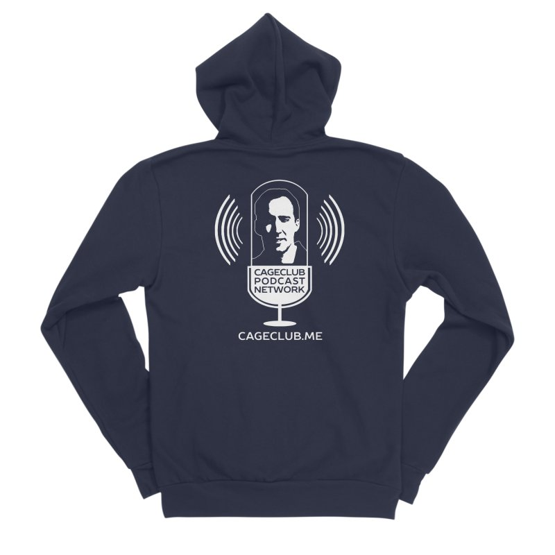 I ❤️ The CageClub Podcast Network (white logo) Men's Sponge Fleece Zip-Up Hoody by The CageClub Podcast Network Shop