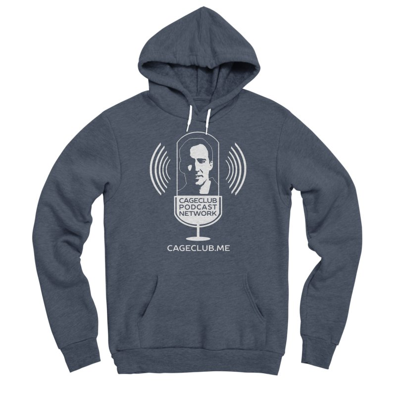 I ❤️ The CageClub Podcast Network (white logo) Men's Sponge Fleece Pullover Hoody by The CageClub Podcast Network Shop